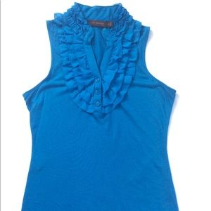 The Limited blue ruffle tank top size XS
